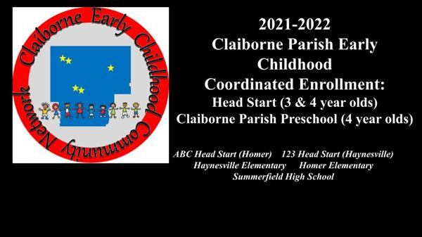 Claiborne Parish Early Childhood Cooridinated Enrollment